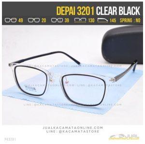 Grosir Kacamata Korea Terbaru Depai 3201 Clear Black