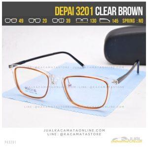 Jual Kacamata Korea Terbaru Depai 3201 Clear Brown