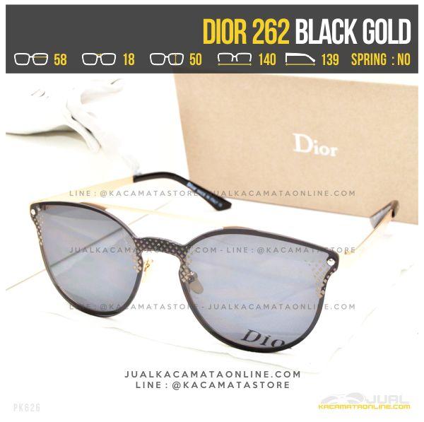 Harga Kacamata Terbaru Dior 262 Black Gold