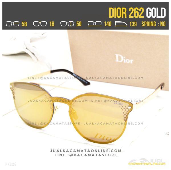 Model Kacamata Terbaru Dior 262 Gold