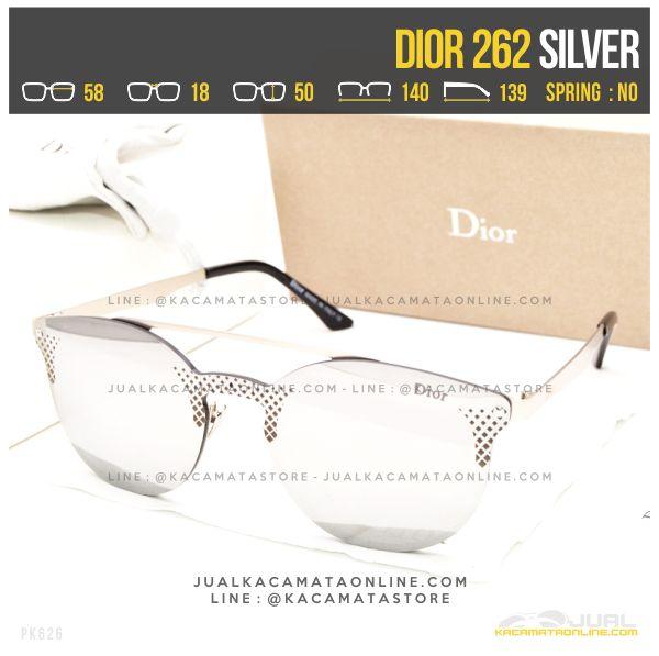 Gambar Kacamata Terbaru Dior 262 Silver