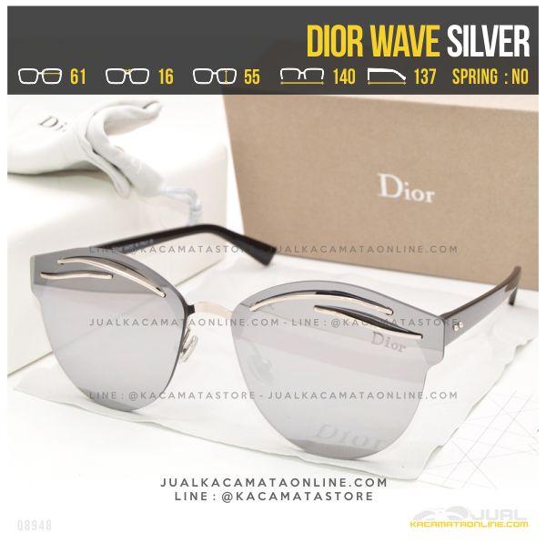 Grosir Kacamata Termurah Dior Wave Silver