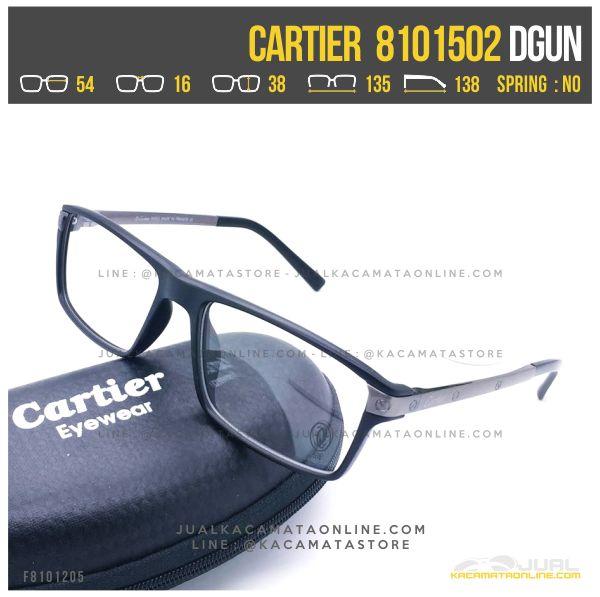 Jual Frame Kacamata Baca Terbaru Cartier 8101502 Dgun