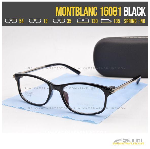 Trend Frame Kacamata Minus Wanita MontBlanc 16081 Black
