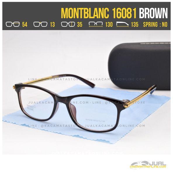 Grosir Frame Kacamata Minus Wanita MontBlanc 16081 Brown