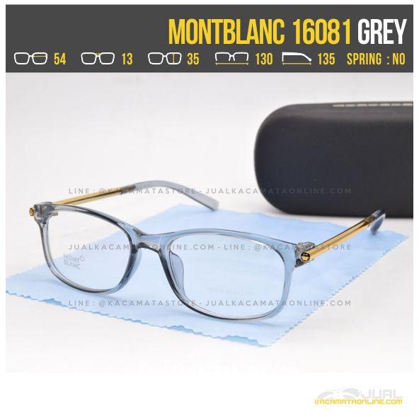 Model Frame Kacamata Minus Wanita MontBlanc 16081 Grey