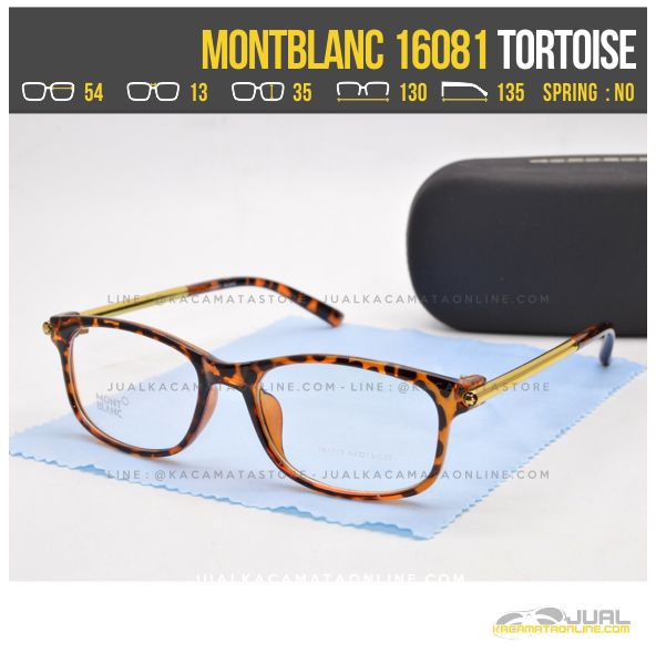 Toko Frame Kacamata Minus Wanita MontBlanc 16081 Tortoise