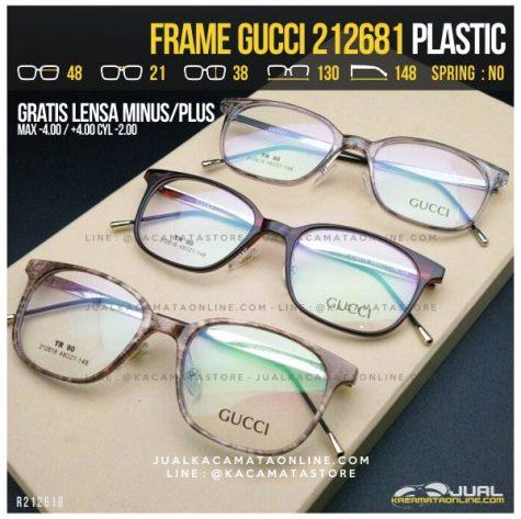 Jual Kacamata Gratis Lensa Gucci 212681 Termurah