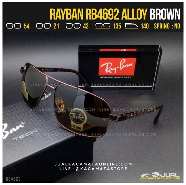 Model Kacamata Hitam Terbaru Rayban RB4692 Alloy Brown
