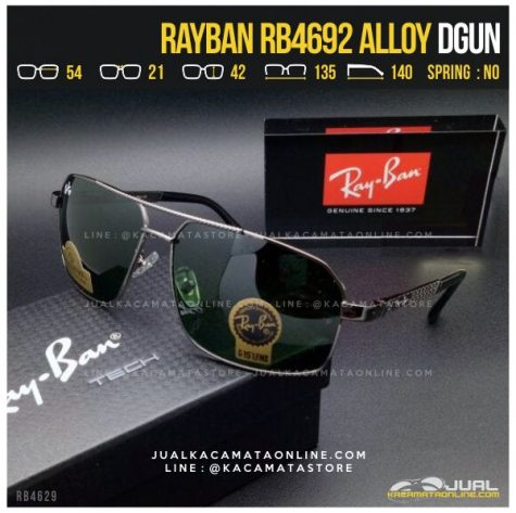 Jual Kacamata Hitam Terbaru Rayban RB4692 Alloy Dgun