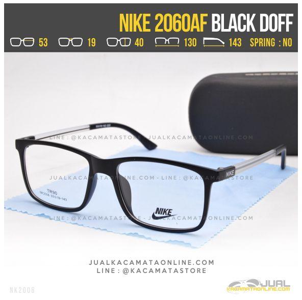 Harga Kacamata Kotak Nike 2060AF Black Doff