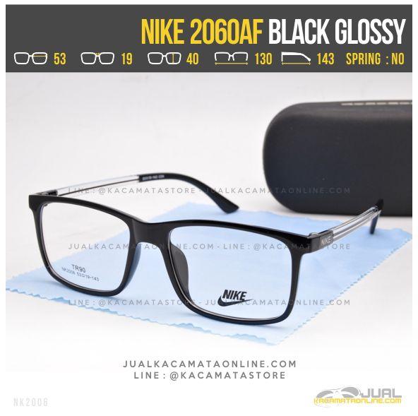 Gambar Kacamata Kotak Nike 2060AF Black Glossy
