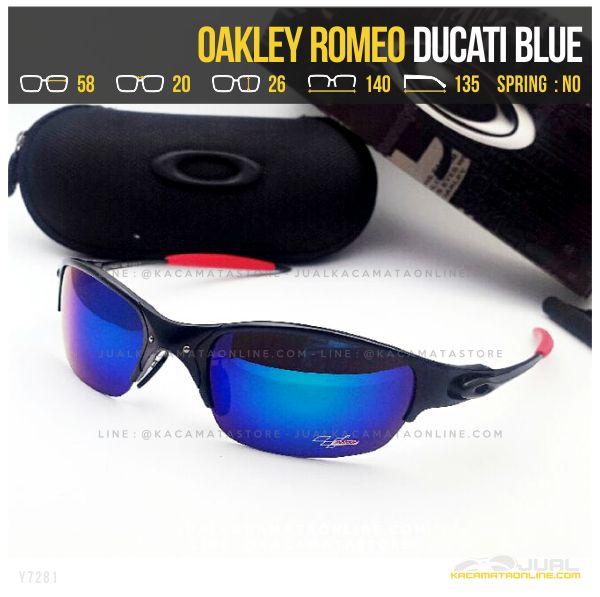 Gambar Kacamata Murah Terbaru Oakley Romeo Ducati Blue