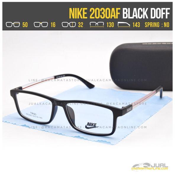 Gambar Kacamata Untuk Wajah Kotak Nike 2030AF Black Doff