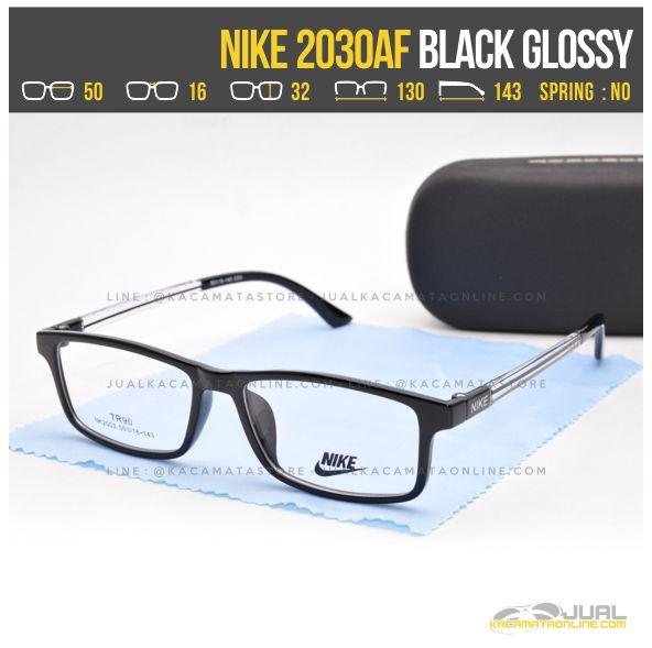 Model Kacamata Untuk Wajah Kotak Nike 2030AF Black Glossy
