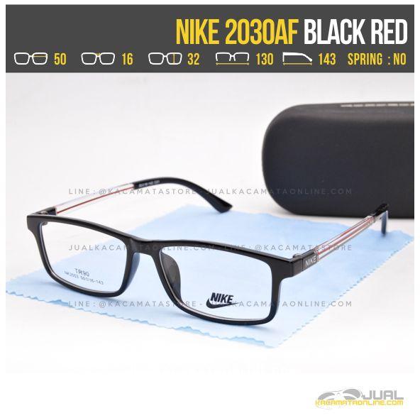 Jual Kacamata Untuk Wajah Kotak Nike 2030AF Black Red