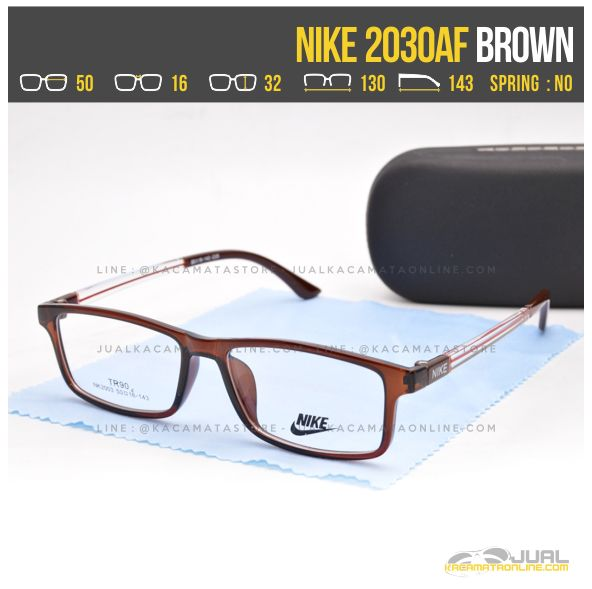 Harga Kacamata Untuk Wajah Kotak Nike 2030AF Brown