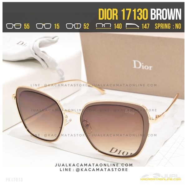 Trend Kacamata Wanita Berhijab Dior 17130 Brown