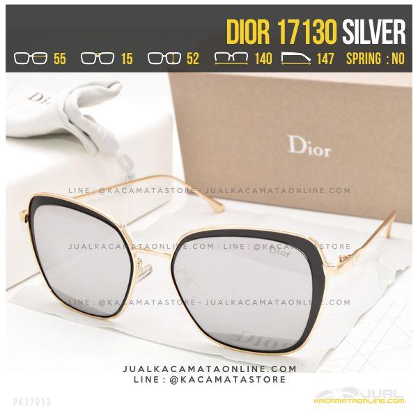 Jual Kacamata Wanita Berhijab Dior 17130 Silver