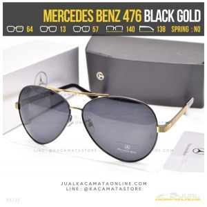 Model Kacamata Cowok Terbaru Mercedes Benz 476 Black Gold