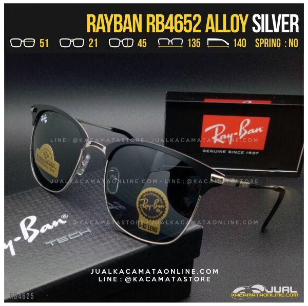 Trend Kacamata Hitam Terbaru Rayban RB4652 Alloy Silver