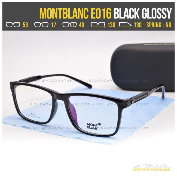 Jual Kacamata Minus Terbaru MontBlanc E016 Black Glossy