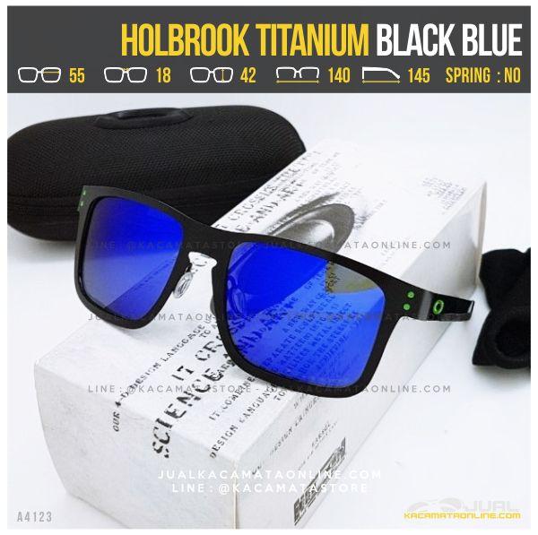 Kacamata Oakley Terlaris Holbrook Titanium Black Blue
