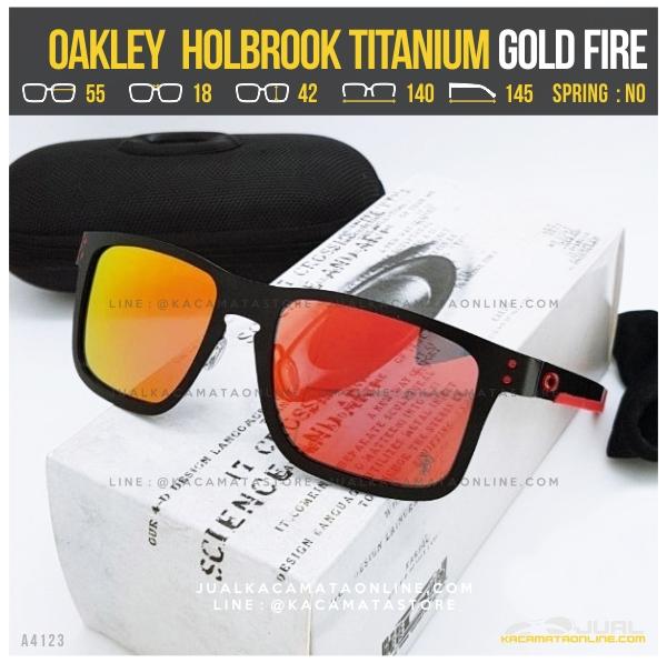 Kacamata Oakley Terlaris Holbrook Titanium Black Fire
