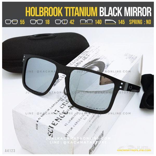Jual Kacamata Oakley Terlaris Holbrook Titanium Black Mirror