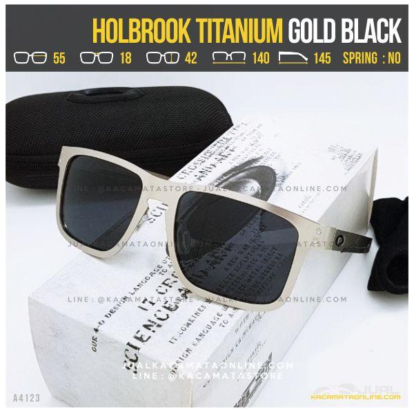Grosir Kacamata Oakley Terlaris Holbrook Titanium Gold Black