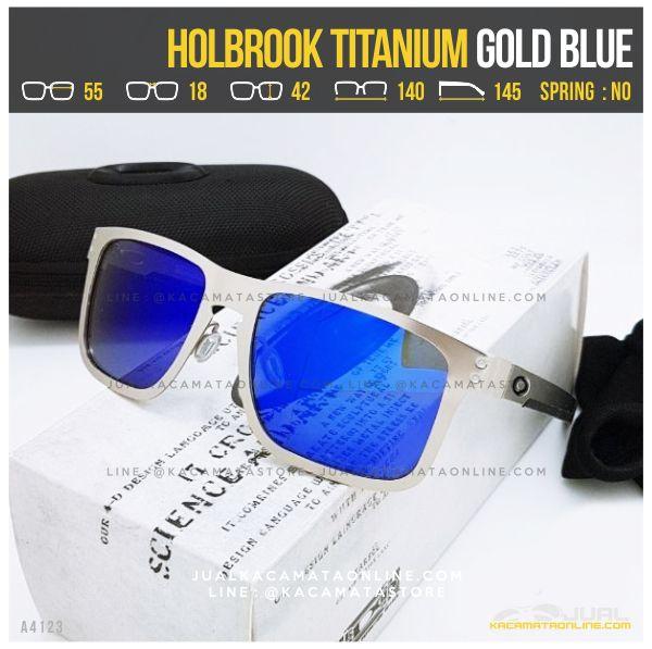 Gambar Kacamata Oakley Terlaris Holbrook Titanium Gold Blue