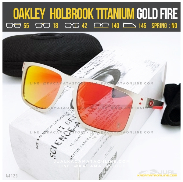 Harga Kacamata Oakley Terlaris Holbrook Titanium Gold Fire