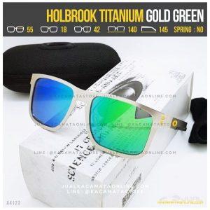 Jual Kacamata Oakley Terlaris Holbrook Titanium Gold Green