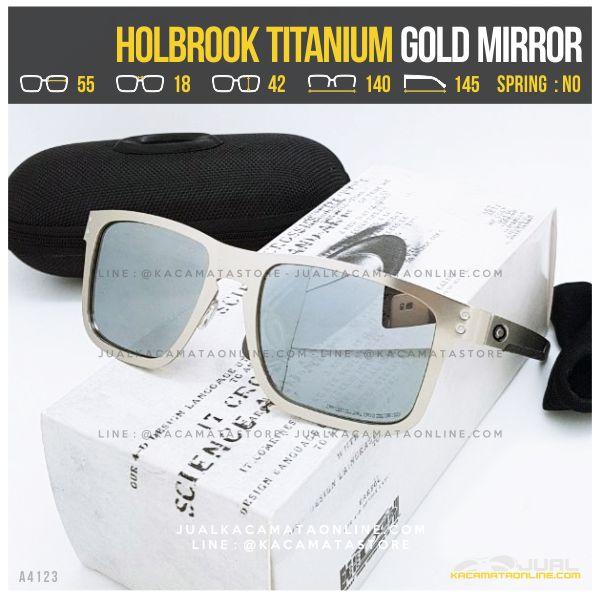 Trend Kacamata Oakley Terlaris Holbrook Titanium Gold Mirror