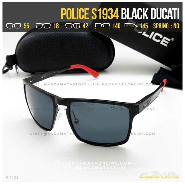 gambar Kacamata Police Terlaris S1934 Black Ducati