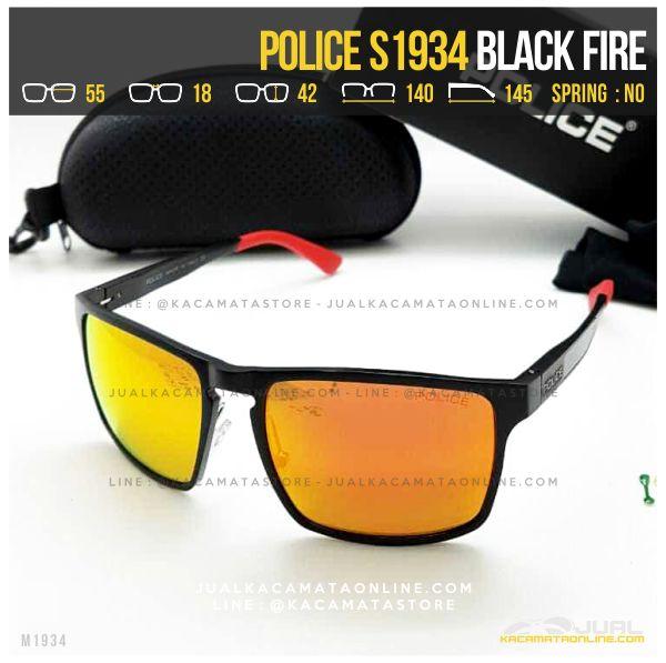 Grosir Kacamata Police Terlaris S1934 Black Fire