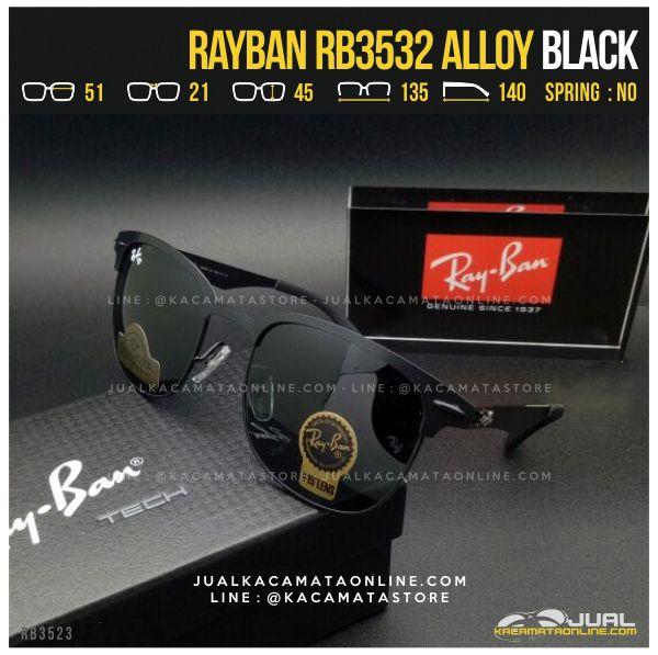 Jual Kacamata Pria Terbaru Rayban RB3532 Alloy Black