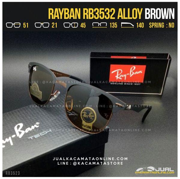 Gambar Kacamata Pria Terbaru Rayban RB3532 Alloy Brown