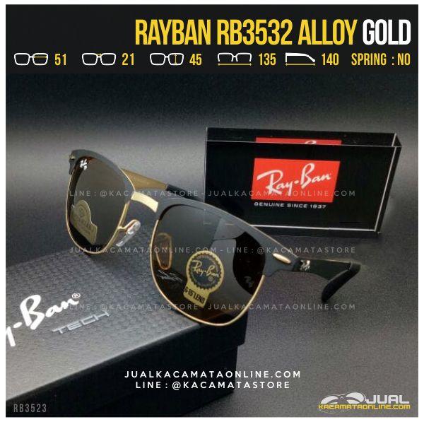 Model Kacamata Pria Terbaru Rayban RB3532 Alloy Gold