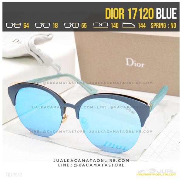 Trend Kacamata Wanita Berhijab Dior 17120 Blue