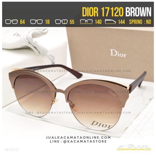 Harga Kacamata Wanita Berhijab Dior 17120 Brown