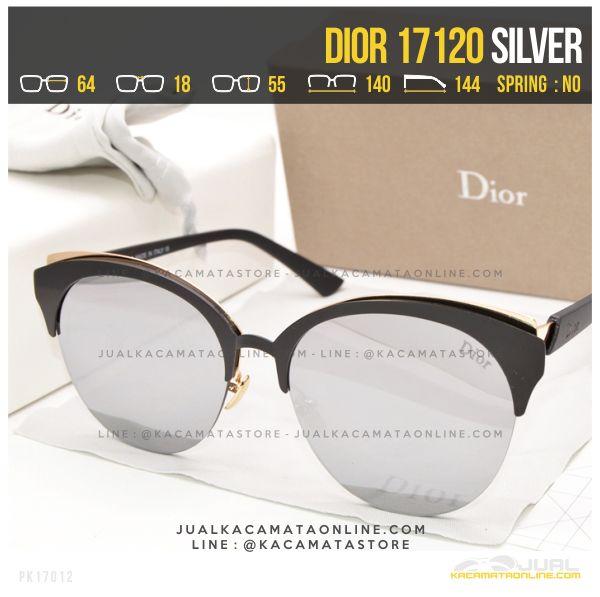 Model Kacamata Wanita Berhijab Dior 17120 Silver
