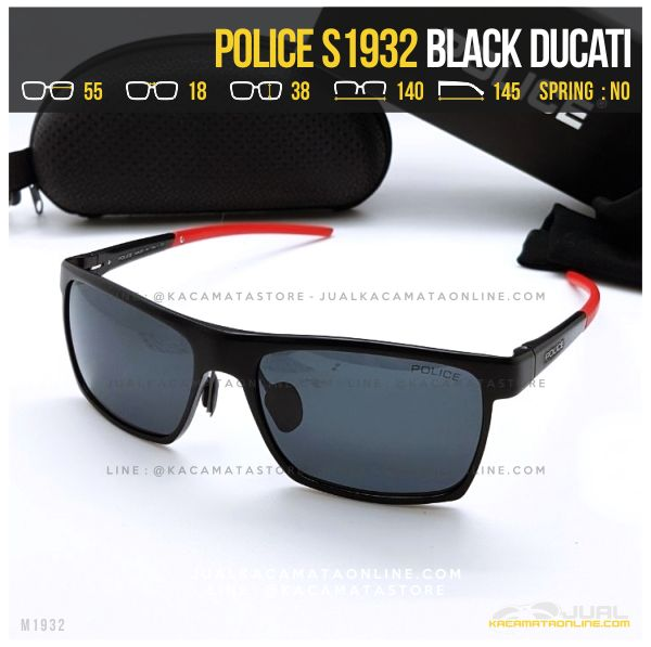 Trend Kacamata Police Terlaris S1932 Black Ducati