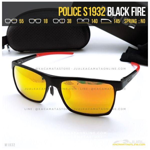 Trend Kacamata Police Terlaris S1932 Black Fier