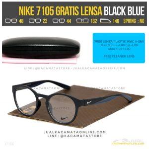 Model Terbaru Kacamata Minus Gratis Lensa Nike 7105 Black Blue