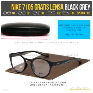 Gambar Terbaru Kacamata Minus Gratis Lensa Nike 7105 Black Grey
