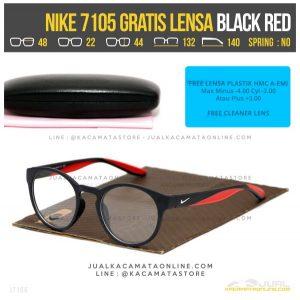 Tren Terbaru Kacamata Minus Gratis Lensa Nike 7105 Black Red