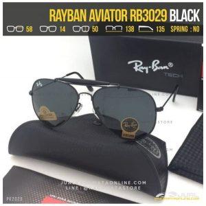 Gambar Kacamata Rayban Pilot RB3029 Temple Black