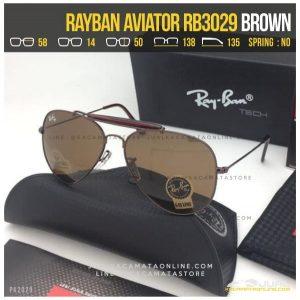 Gambar Kacamata Rayban Pilot RB3029 Temple Brown