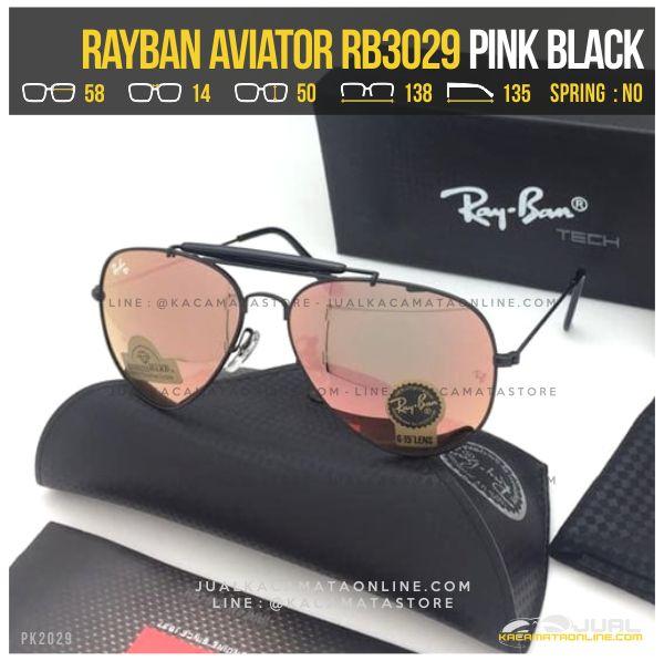 Harga Kacamata Rayban Pilot RB3029 Pink Black